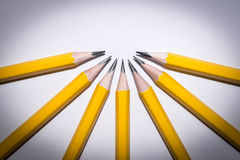 Pencil isolated on pure white background Stock Images