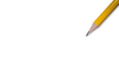 Pencil isolated on pure white background Royalty Free Stock Photography