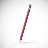 Pencil isolated on pure white background Royalty Free Stock Image