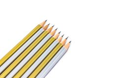 Pencil isolated on pure white background royalty free stock images