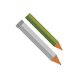 Pencil isolated vector. Royalty Free Stock Photos