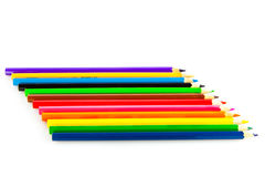Pencil isolated on white background crayons different color Stock Photos