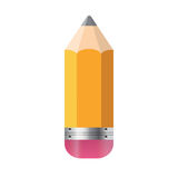 Pencil Isolated on White Background Vector. Illustration Royalty Free Stock Images
