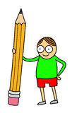 Pencil kid Stock Images