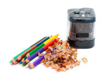 Pencil & knife-sharpener Stock Photos