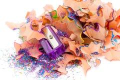 Pencil & knife-sharpener Royalty Free Stock Photo