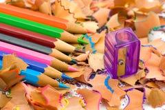 Pencil & knife-sharpener Stock Photography