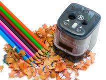 Pencil & knife-sharpener Royalty Free Stock Image