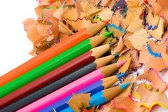 Pencil & knife-sharpener Royalty Free Stock Photos