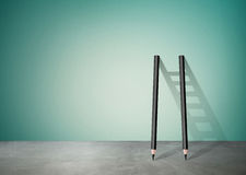 Pencil Ladder with copy space Royalty Free Stock Photo