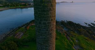 The Pencil, Largs, Scotland. The Pencil was built in 1912, to commemorate the Battle of Largs 1263, when the Scots defeated King Haco of Norway`s troops on the stock footage