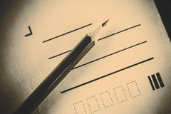 Pencil and letter Stock Photos
