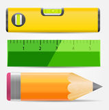 Pencil,level And Ruler Icon Vector Illustration Royalty Free Stock Photo