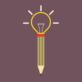 Pencil Light Bulb Royalty Free Stock Photos