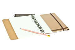 Pencil on Light cream color paper note book Stock Images