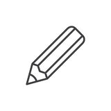 Pencil line icon, outline vector sign, linear style pictogram isolated on white. Stock Image