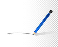 Pencil line over a blank design layer Stock Image