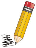 Pencil and line Royalty Free Stock Images