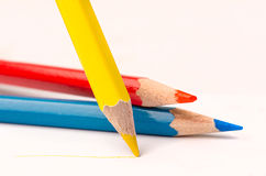 Pencil with line Stock Photos