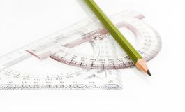 Pencil and lines Stock Photo