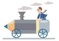 Pencil_ locomotive Stock Image