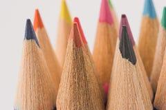 Pencil macro. Colored pencils macro, back to school Royalty Free Stock Image