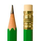 Pencil macro. Close up shot of a pencil, tip and eraser stock photography