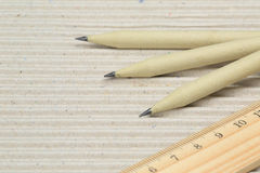Pencil. A pencil made of paper. Environmentally friendly stationary supplies Royalty Free Stock Images