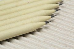 Pencil. A pencil made of paper. Environmentally friendly stationary supplies Royalty Free Stock Image