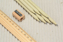 Pencil. A pencil made of paper. Environmentally friendly stationary supplies Stock Photo