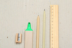 Pencil. A pencil made of paper. Environmentally friendly stationary supplies Stock Image