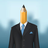 Pencil man Stock Photo