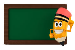 Pencil mascot Royalty Free Stock Images