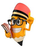 Pencil mascot Royalty Free Stock Photography