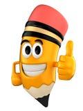 Pencil mascot Stock Images