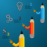 Pencil modern template Stock Photography