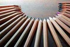 Pencil moon Royalty Free Stock Images