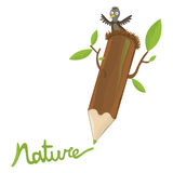 Pencil and nature Royalty Free Stock Photo