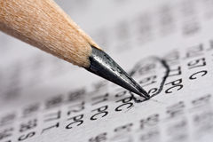 Pencil And Newspaper Royalty Free Stock Images