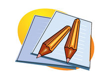 Pencil and not pad  illustration Stock Photography
