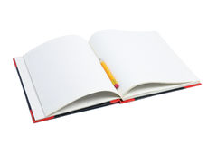 Pencil and Note Book Stock Images