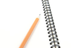 Pencil on note book Royalty Free Stock Photo