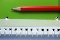 Pencil on note book Royalty Free Stock Photography