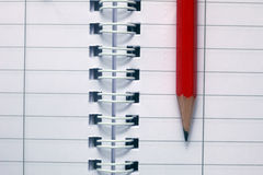 Pencil on note book Royalty Free Stock Image