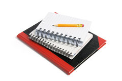 Pencil and Note Books Royalty Free Stock Photography
