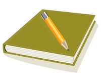 Pencil and note pad Royalty Free Stock Photo