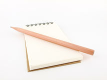 Pencil with notebook Stock Photography