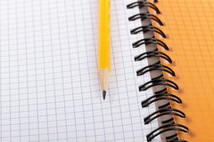 Pencil and notebook. Royalty Free Stock Photo