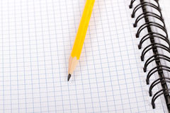 Pencil and notebook. Stock Photography