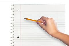 Pencil and Notebook Stock Images